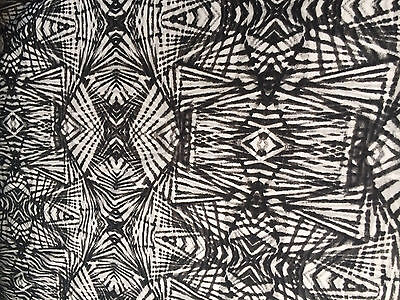 Jersey Fabric - 'Abstract Sparrow ' - Dress Fabric