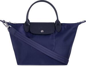 e32139e8bb45 Longchamp Le Pliage Neo Small Handbag Navy Blue 100% Authentic ...