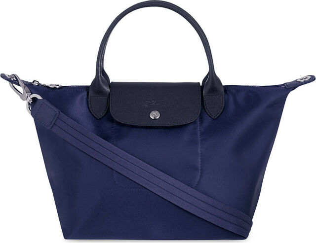 Longchamp Le Pliage Neo Small Handbag Navy Blue 100% Authentic 1512578556 3481e0de551a4