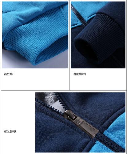 ACDC Hoodie Winter Fleece Hooded Coat Thicken Warm Jacket Full-Zip Sweatshirt