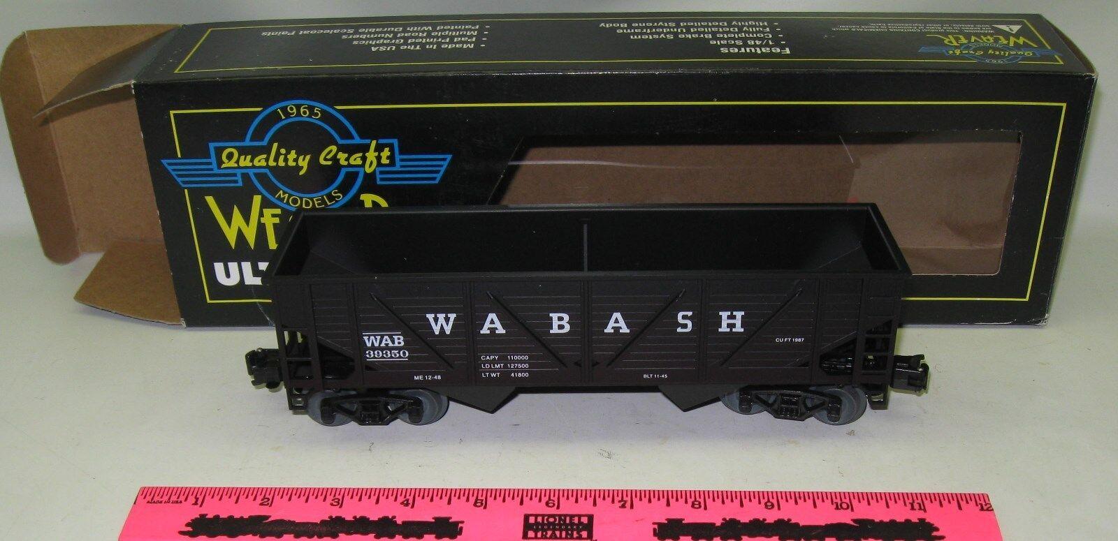 Weaver Ultra Line Road Wabash 2bay composite hopper 3-rail  U16010L