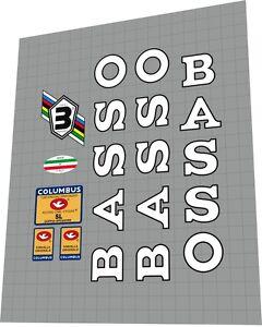 BASSO Astra Frame Sticker Decal Set