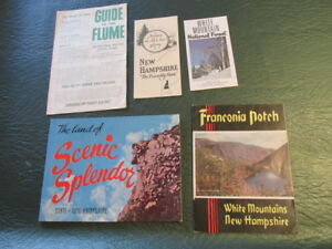Vintage-New-Hampshire-NH-Travel-Tourist-Brochure-Map-Guide-Lot-of-5-SL21