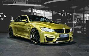 BMW-M4-Sports-Car-Black-Rim-Canvas-Wall-Art-20x30-INCHES