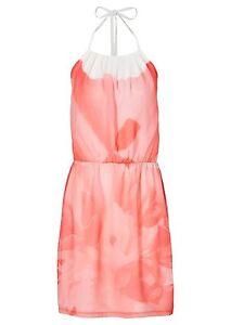 Bodyflirt-Sommerkleid-Mini-Kleid-Blumenkleid-Kleid-Gr-44-lachsrosa-947364
