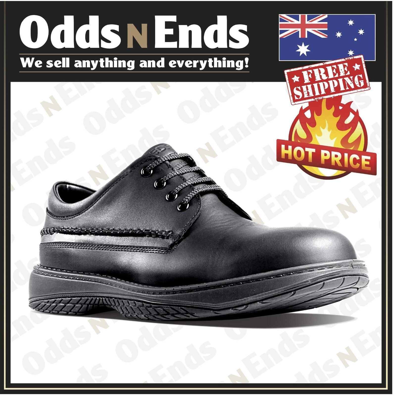 NEW! LEATHER WAITER REDBACK RWBN CHEF SHOES WATER OIL REPELLENT LEATHER NEW! SHOE 1a964f
