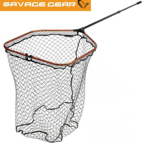 Kescher 70x85cm Hechtkescher Savage Gear Pro Tele Folding Net Rubber Mesh XL