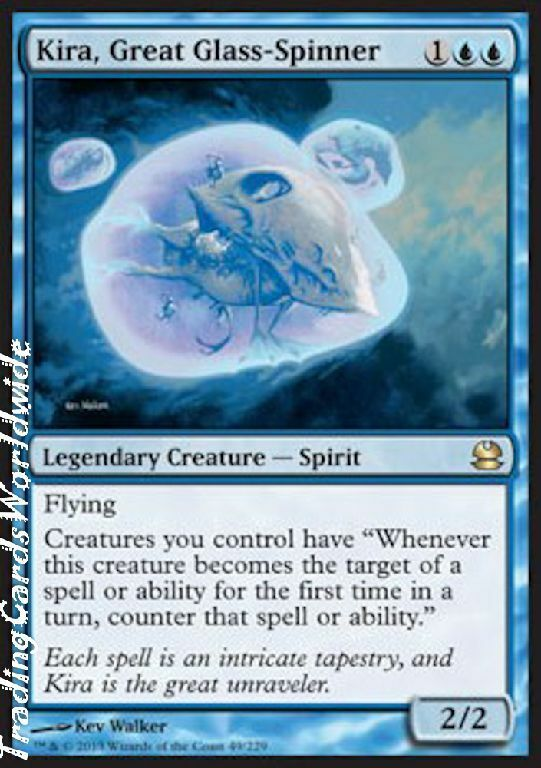 Kira, Great Glass-Spinner   NM NM NM    Modern Masters    engl.    Magic the Gathering 5d9d99