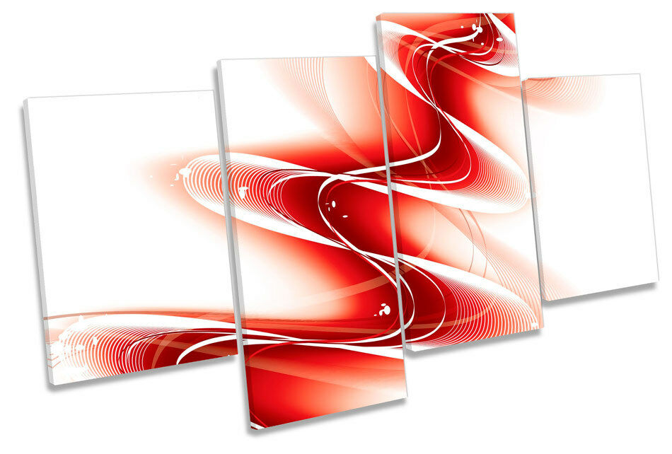 Abstract Energy Wave MULTI CANVAS WALL ART Print Picture