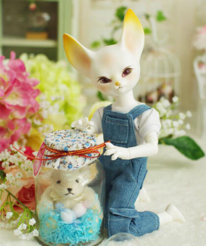 1//6 BJD Doll SD FOX free eyes with face make up White Resin New