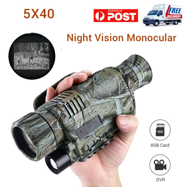 Night Vision Cam Goggles Zoom Monocular IR Security Surveillance Hunting Scope W