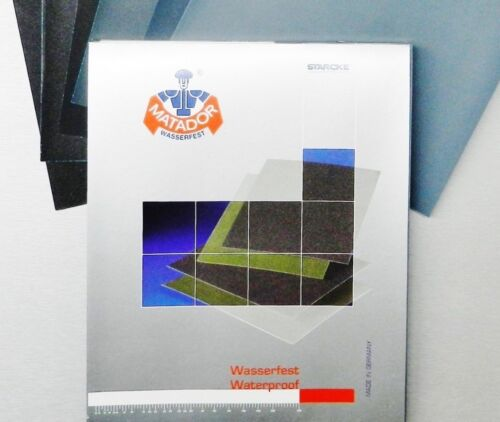 "Matador Abrasive Wet or Dry Sandpaper 25 Sheets 2000 Grit 9/""x11/"" Silcon Carbide"