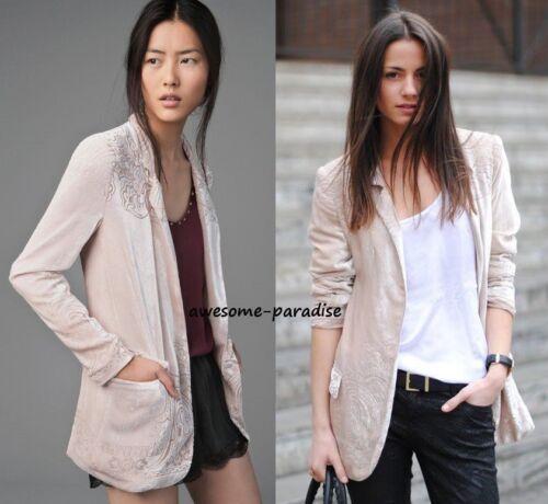 Medium Pink M Washed Coat Silk Zara Blazer Out Giacca in velluto Mulberry qSPPdv5xw