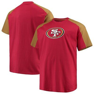 San Francisco 49ers Majestic Skill In Motion Mens Red Shirt Big /& Tall Sizes