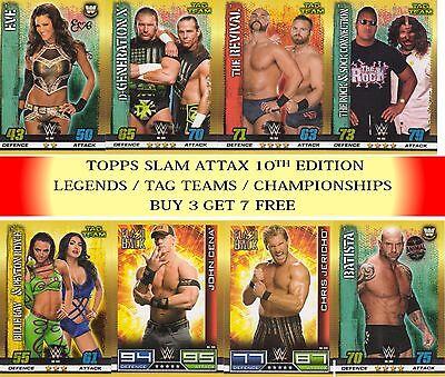 Topps Slam Attax 10th édition cartes de base-NXT /& OMG cartes