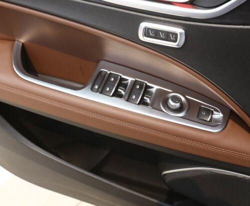 4 Stücke Fenster Aufzug Taste Rahmen Abdeckung Für Alfa Romeo Stelvio 2017-2018