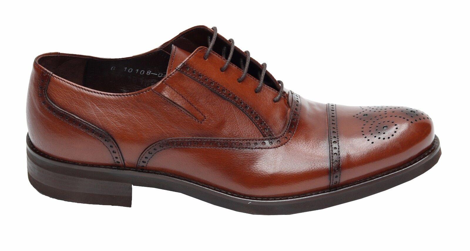 Echtleder Herren Schuhe Budapester Gr.42 Hellbraun