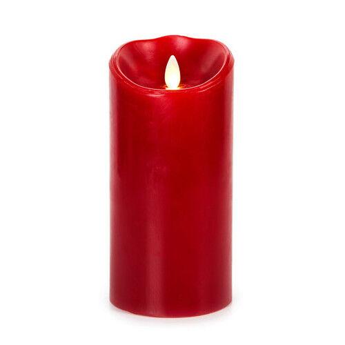 Luminara® Real Wax Flameless LED (Moving Flame) 7  Cinnamon Scented Pillar