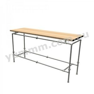 Rustic Industrial Iron Pipe Workbench Kitchen Garage Table Legs Base