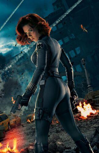"The Avengers Movie Silk Fabric Poster Black Widow 11/""x17/"" 24/""x36/"""