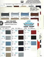 1983 DODGE CHRYSLER PLYMOUTH DODGE TRUCK PAINT CHIPS