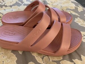 Crocs-Size-10-Pink-Women-s-Sandals-New