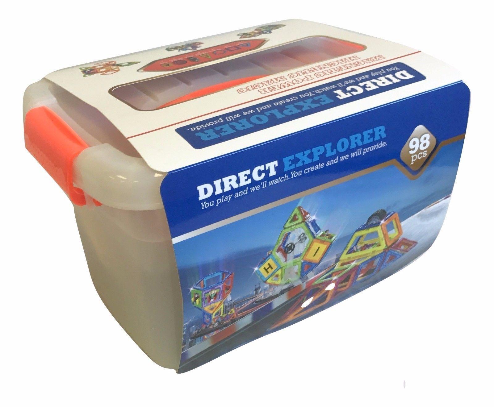 3D Magnetic Toys - 98 pcs Intelligent Magnetic Construction set Direct Explorer