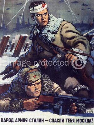 Peoples Army Russian Soviet WW2 Army Propaganda 11x17 Poster