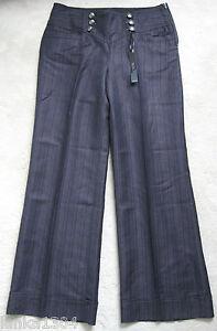 Taglie Pantalone Successivo 40 marrone diff 00 a in righe lino £ jeans nuovo 4CUx8Cwq