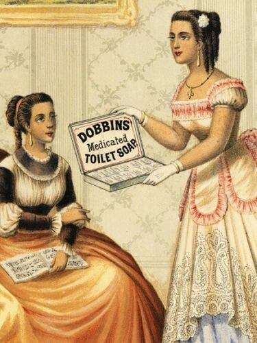 1869 Dobbins Medicated Toilet Soap Vintage Style Advertising Poster 16x20