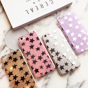 Premium-Sparkle-Star-HyBrid-TPU-Gel-Case-Cover-Apple-iPhone-SE-5S-6-6S-7-Plus