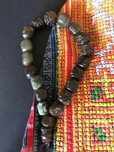 Old-Tibetan-Carved-Jade-Prayer-Beads-beautiful-collection-piece