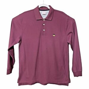Brooks-Brothers-Mens-Golden-Fleece-Logo-Red-Maroon-Polo-Shirt-Cotton-Sz-Medium-M