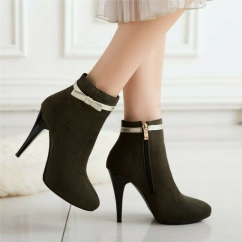 Size 48//49//50 Womens Ankle Boots Pointy Toe High Heel Party Pumps Casual Shoes