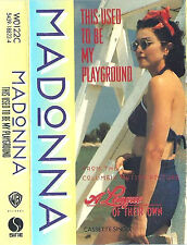 MADONNA USED TO BE MY PLAYGROUND CASSETTE SINGLE USA UK INSERT