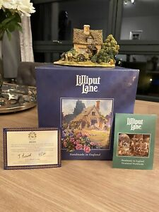 Lilliput-Lane-Cruck-End-Cottage-1996-Boxed-With-Deeds-1996-Anniversary
