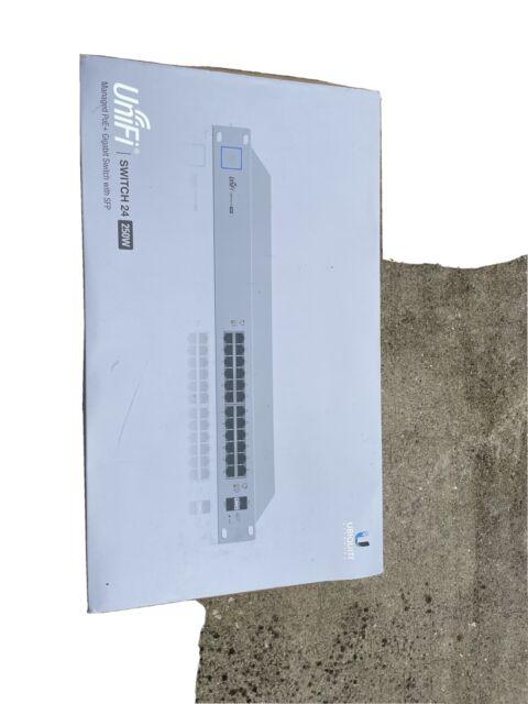 Ubiquiti UniFi US-24-250W Switch - 24 Port POE+, 2 SFP ports w/Gigabit Modules