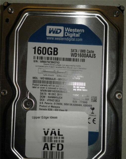 Western Digital 160GB Hard Drive HDD 3.5 WD1600AAJS-00YZCA0