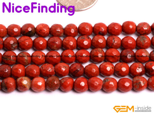 Natural Red Jasper Faceted Stone Beads Lot For Jewelry Making 15/'/' 6mm 8mm 10mm