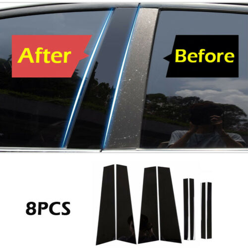 8* Plastic Window Pillar Posts Trim Cover Molding Fit For BMW X3 2011-2016