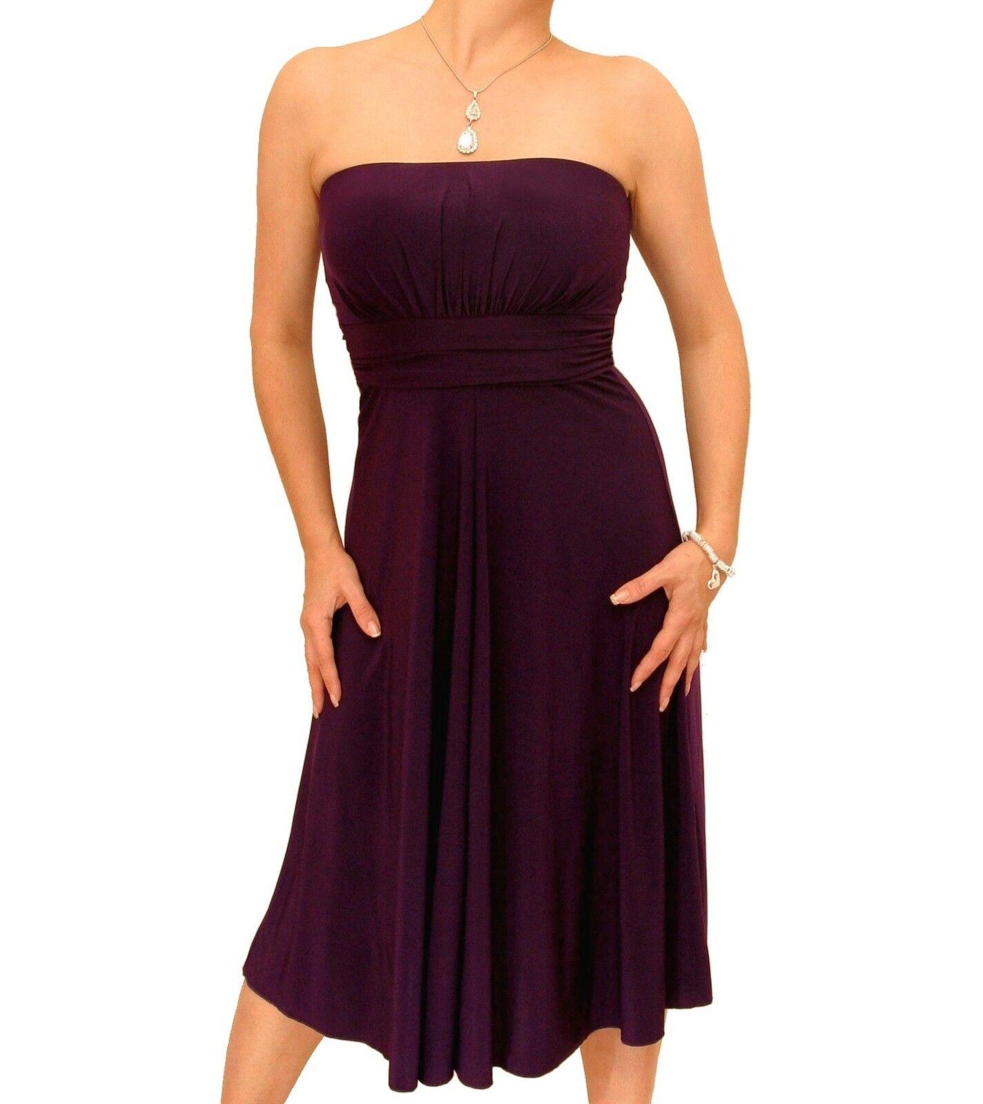 New Slinky Strapless A Line Dress - Knee Length