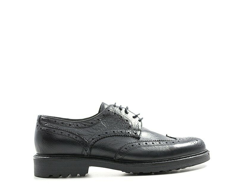 Schuhe MADE IN ITALY Mann NERO Brogue,Naturleder ANIL102S