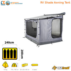 Image is loading IN-STOCK-OZtrail-RV-Shade-Awning-Tent-Shelter-  sc 1 st  eBay : oztrail rv tent - memphite.com