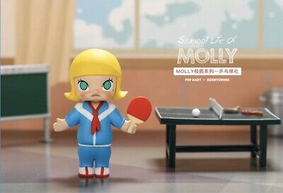 POP MART KENNYSWORK School Molly Mini Figure Designer Toy Figurine Table Tennis