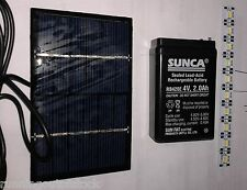 Mini SOLAR PANEL Cell, DC Solar charger 6v 200ma + 2Ah Sunca Rechargable Battery