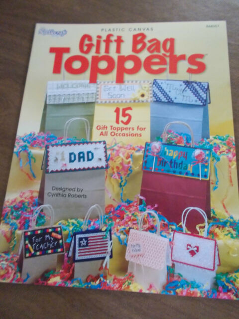 Gift Bag Toppers Plastic Canvas Leaflet The Needlecraft Shop 844507