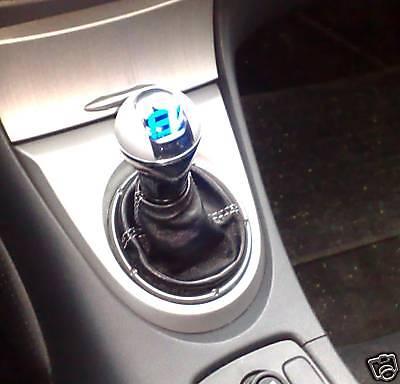 RICAMO GRIGIO VW  NEW BEETLE CUFFIA LEVA CAMBIO IN VERA PELLE NERA