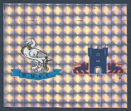 YORK CITY-TEAM BADGES-FOIL PANINI FOOTBALL LEAGUE 1996 #439-WYCOMBE WANDERERS