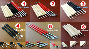 4 Kinds Leather Craft PMC Carving Modelling Splicing Embossing Spoon Stylus Tool