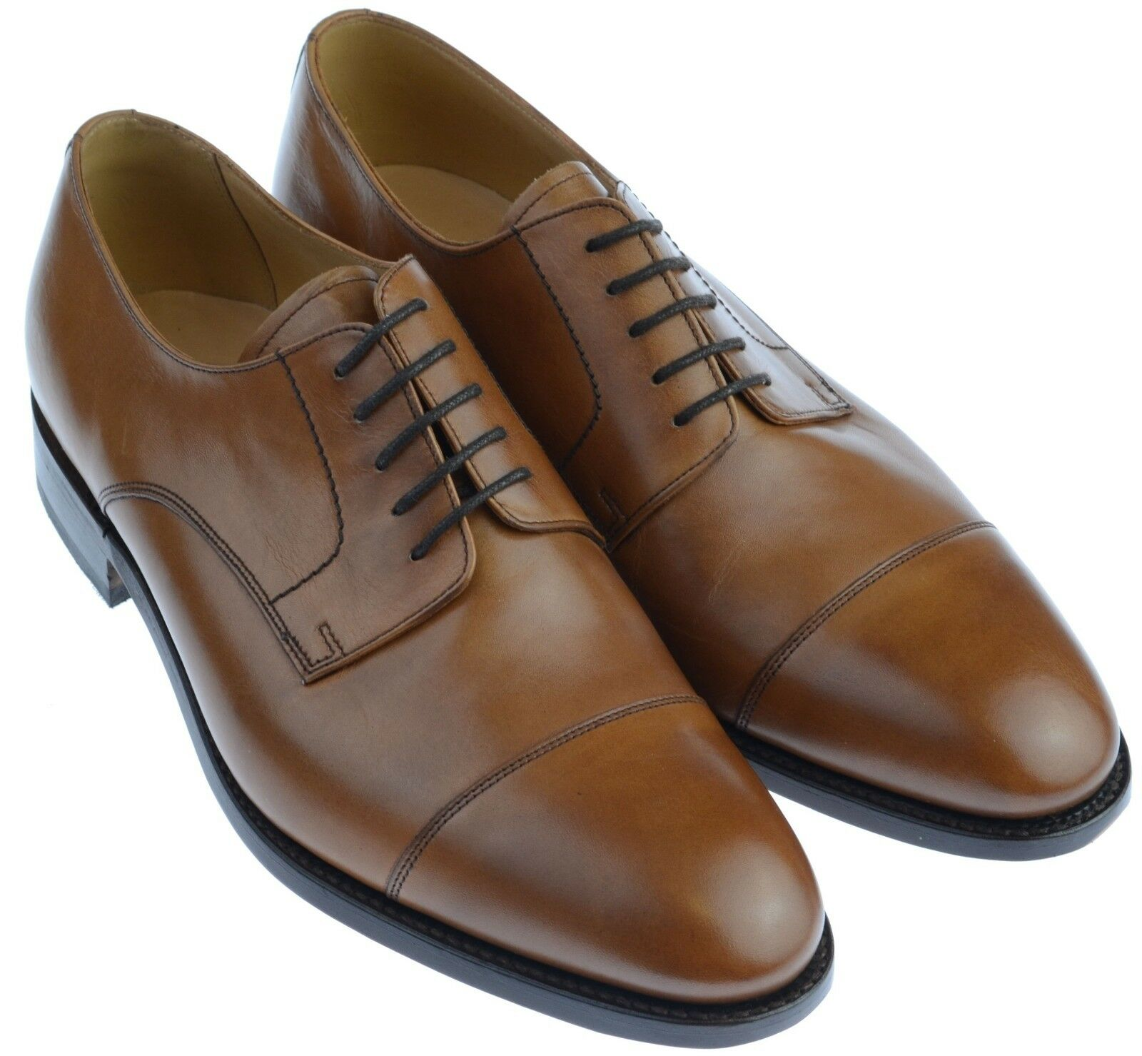 Gentleman's Toecap Derby Barker Epping Conker Brown UK Size 8.5 G Fitting